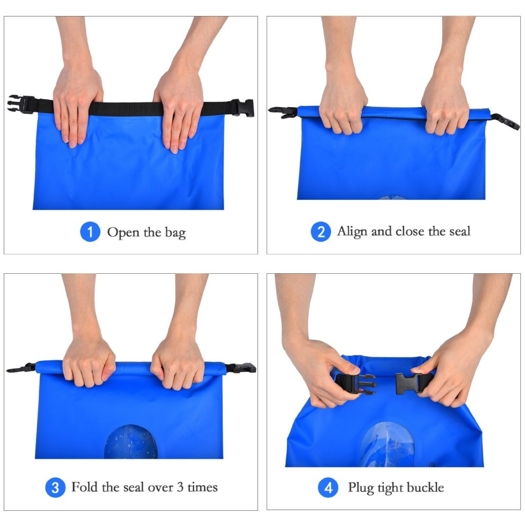 How to close a dry bag dry sack