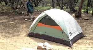 Basic camping and hiking tent