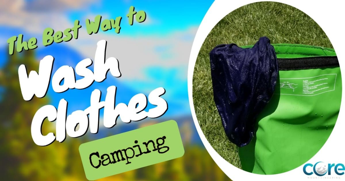 how do I wash clothes camping