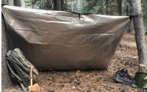 Insulated camping Tarp for shelter