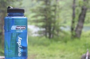 nalgene water bottle hiking