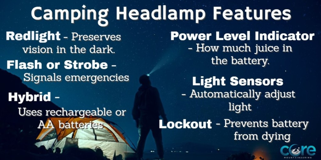 best camping headlight features