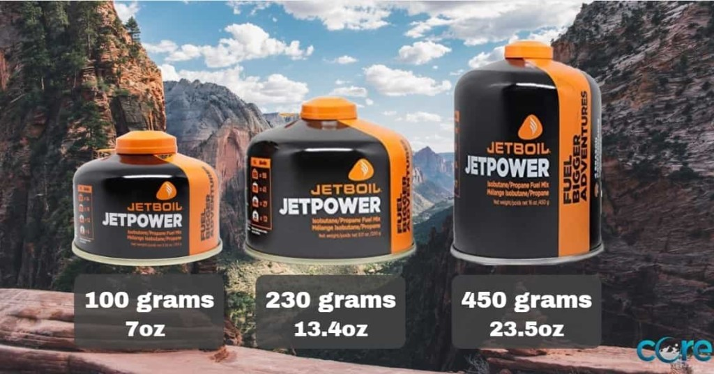 Camping Fuel Sizes Canisters