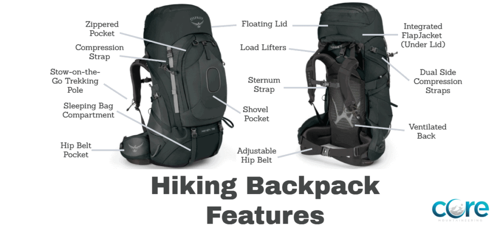 Hiking Backpack Features