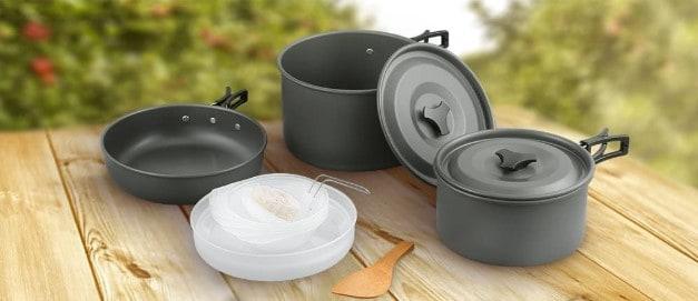 Terra Hiker Camping Cookware, Nonstick, Lightweight Pots