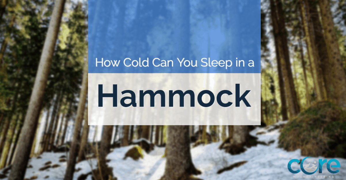 How cold can you sleep in a hammock