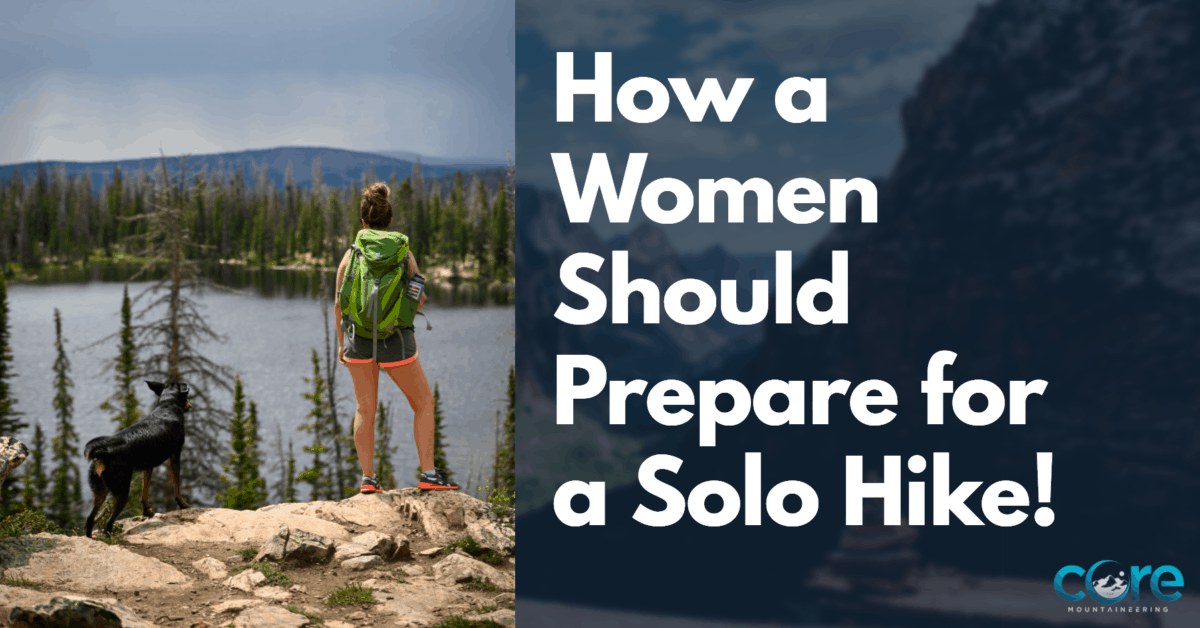 Women hiking alone