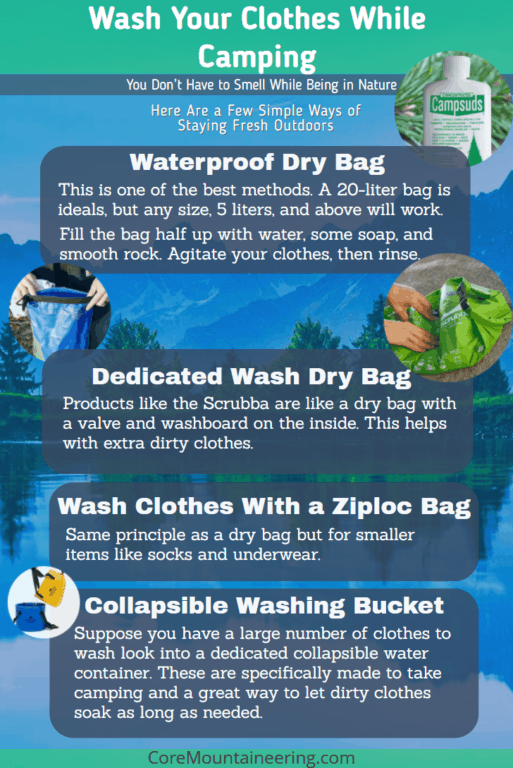Guide to keeping clean when camping