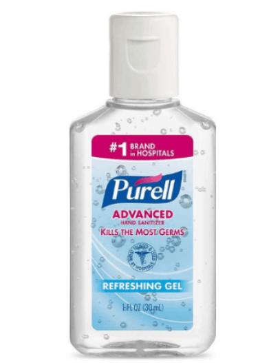 hand sanitizer for hiking