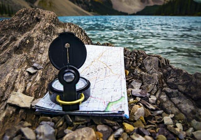 Trail maps while hiking