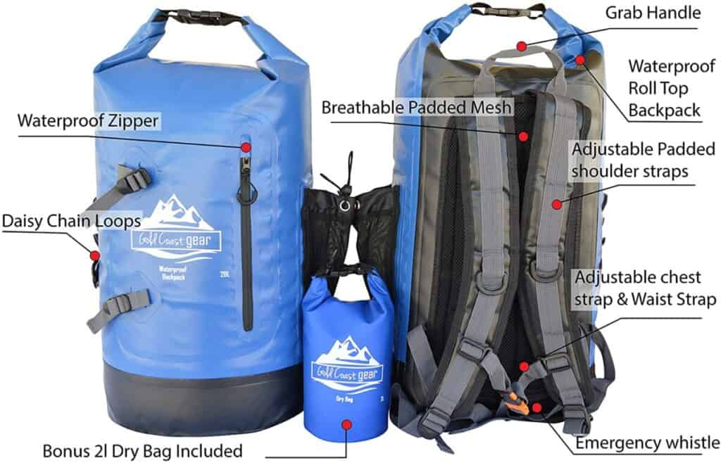 Water proof backpack with a lot of features